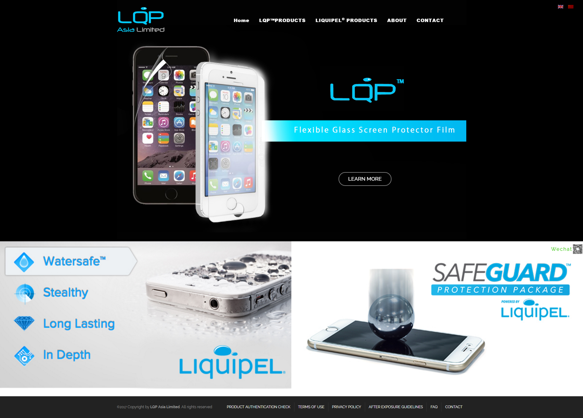 Liquipel Make your Device WaterSave - homepage
