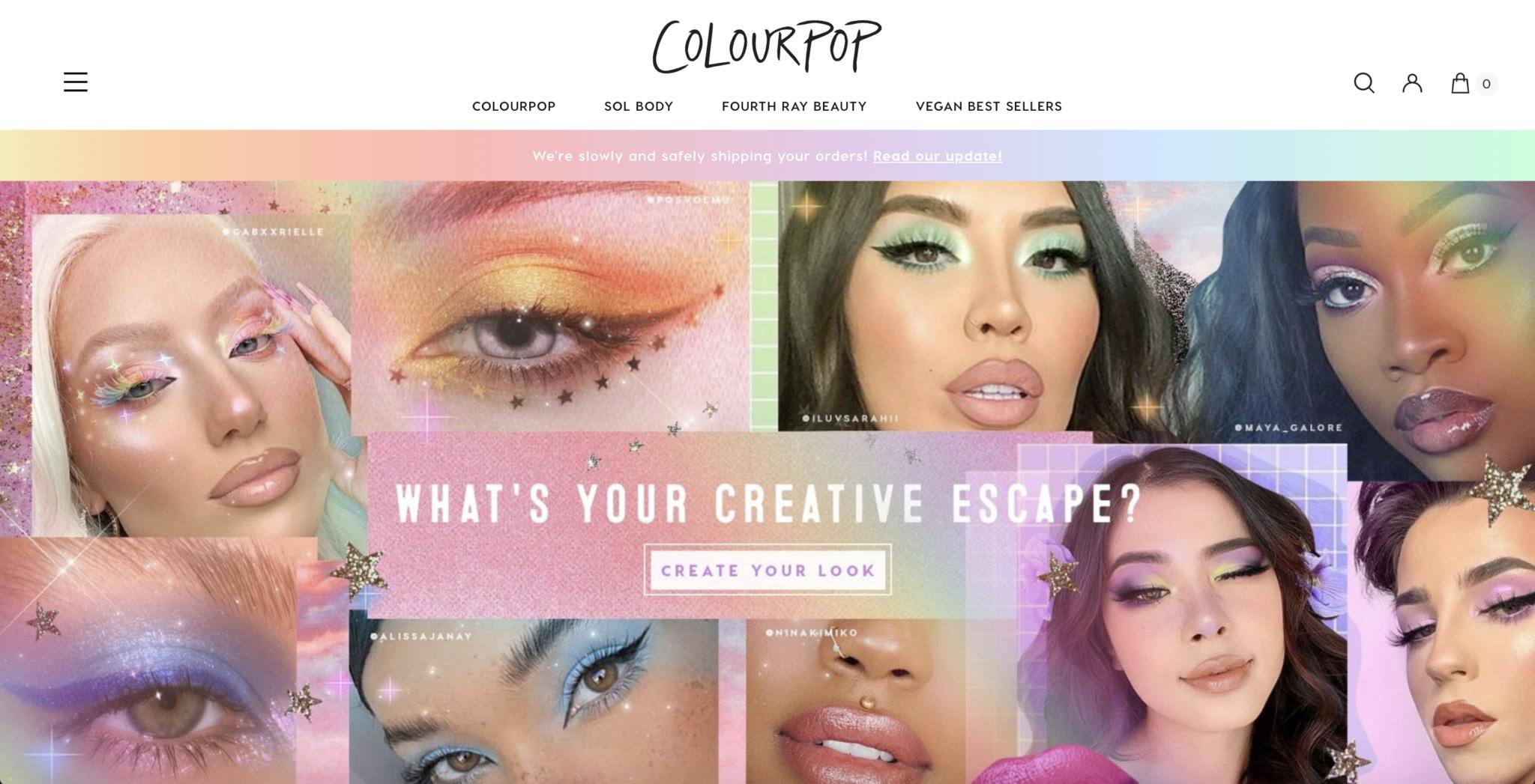 Colourpop-Website-Design
