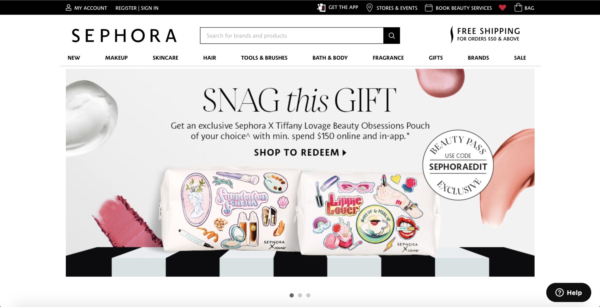 Sephora-Singapore-Website-Design