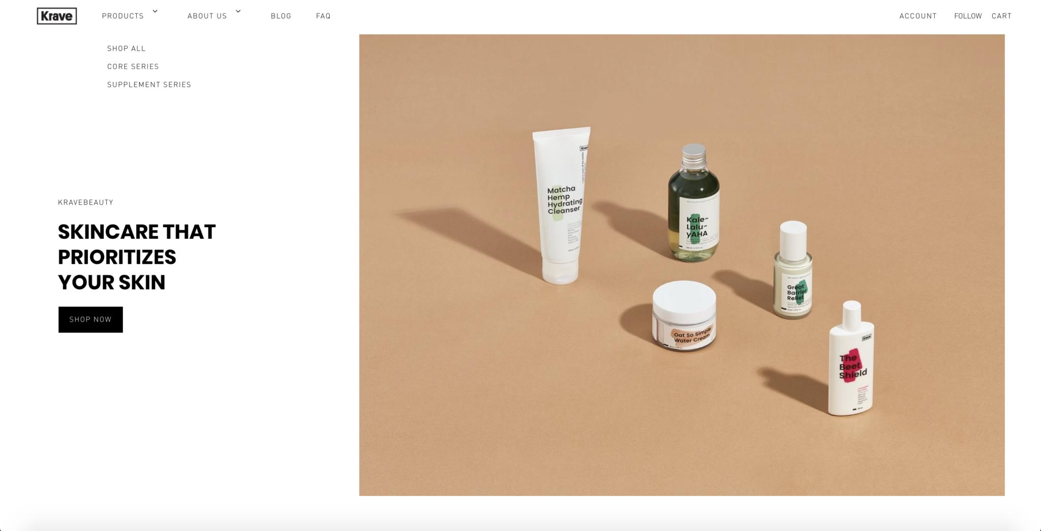 KRAVE-Beauty-Website-Design