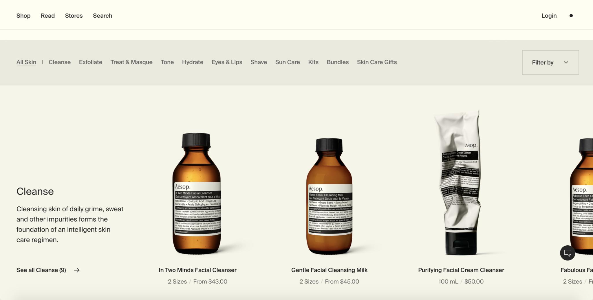 Aesop-Singapore-Website Design