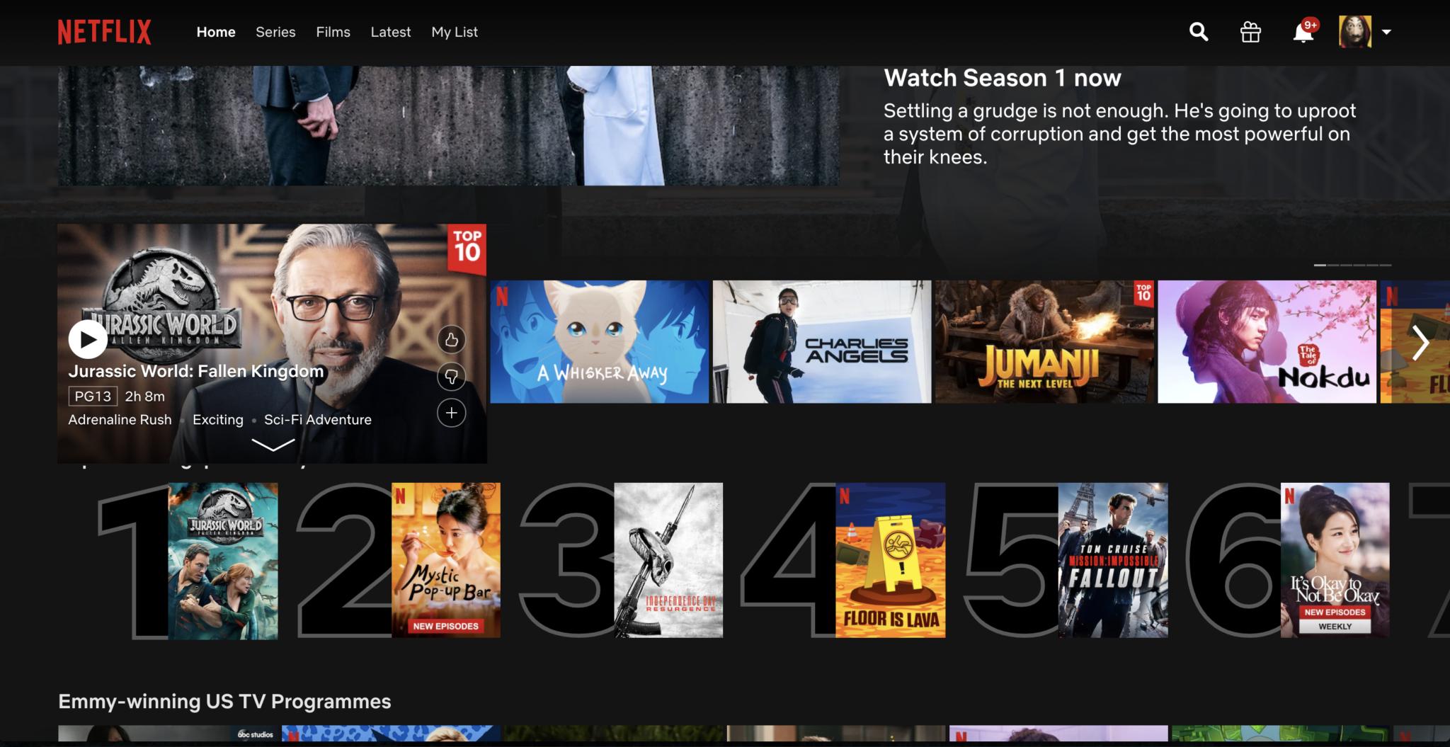 Netflix-Homepage